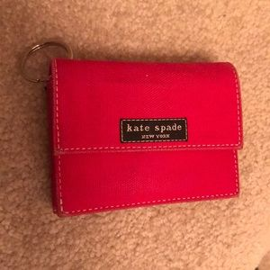 Kate Spade Red Compact Wallet